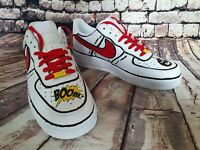 New Nike Airforce 1 Size 10 Custom design tick tock BOOM Cartoon Air force AF1