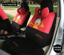 1 Set of 18 PCS Cozy Cartoon Garfield Cat Car Seat Cover Sitting Cushion