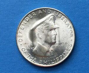 1947 McArthur Memorial Coin 50 centavos