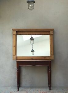 Large Rustic Pine Mirror Overmantel Country Farmhouse Mirror -Delivery Available