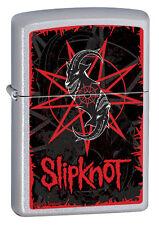 Zippo Slipknot Red Logo Music Heavy Metal Street Chrome Windproof Lighter 28993