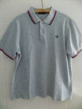 More details for vintage retro fred perry polo shirt jersey top golf mens grey cotton adults size