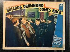 BULLDOG DRUMMOND COMES BACK ORIGINAL 1937 LOBBY CARD, JOHN BARRYMORE