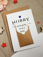 Pregnancy announcement card for husband going to be a dad only the best dad PA86