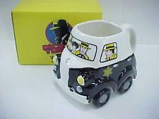 New 1990 DICK TRACY Wheeleess Police Car Rolling Coffee Mug / Cup Applause NiB