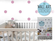 12x Modern Wall Sticker Dots Pastel Pink Removable Decal Art Home Room Decor