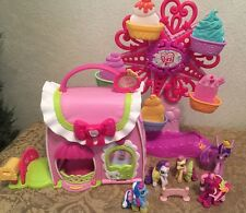My Little Pony Ponyville Playset Fancy Fashions Boutique,Ferris Wheel + Extras