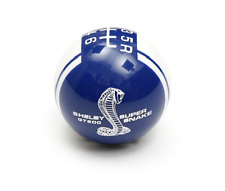 Ford Mustang Shelby GT500 Super Snake Shift Knob - Blue w/ White Stripes