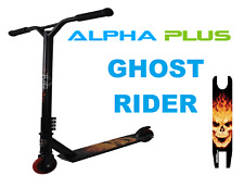 Alpha Plus Stunt Scooter Ghost Rider - Black And Red - With ABEC-9 Bearings