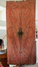 "Antique Wool Paisley Kashmir Shawl c1860~L-65"" X W-130"""