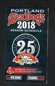 Portland Sea Dogs--2018 Pocket Schedule--Coke--Red Sox Affiliate