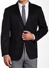 John W Nordstrom Black 100% Cashmere Mens Sport Coat Blazer 40 Regular NEW NWOT