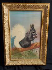 1949 Large Framed Kaibab Squirrel Painting Dorothy Larsen