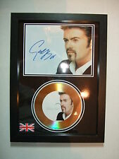 GEORGE MICHAEL   SIGNED  GOLD CD  DISC   344244