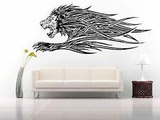 Wall Room Decor Art Vinyl Sticker Mural Decal Tribal Tattoo Lion Predator FI507