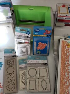 Cuttlebug Die Cut Machine with Lot of Dies and Embossing Folders