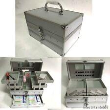 Professional Edition Aluminum Make up Train Case Jewelry Box Cosmetic Case