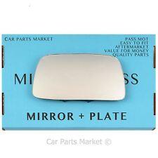Left Passenger side Wing door mirror glass for Volvo 440 460 480 91-97 +plate