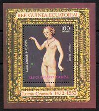 EQUATORIAL GUINEA ,  LUCAS CRANACH  SHEET,  HOJA DENTADA,