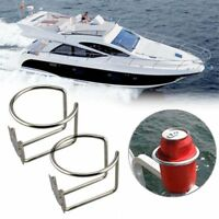 2PCS Stainless Steel Ring Drink Bottle Cup Holder For Boat Marine Yacht Car RV