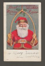 [61805] OLD POSTCARD SANTA BEST WISHES MERRY XMAS