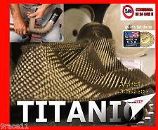 BENDE benda fasciatura collettori BENDAGGIO 5m TITANIO 5 FASCETTE moto CAFE RACE