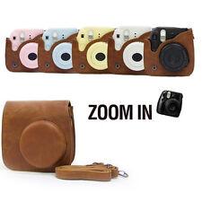 For Fuji Fujifilm Instax Mini 8 Brown Leather Shoulder Bag Camera Case Cover EM