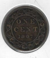1907 Canada One Cent Coin F-15