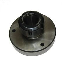RDGTOOLS ER32 COLLET CHUCK ROUND BASE 3 MOUNTING HOLES FOR ROTARY TABLE MILLING