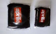 Pair Black Aprilia motorcycle front rear brake reservoir shrouds covers socks
