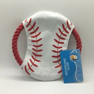 Dog Frisbee Fetch Teething Play Baseball Toy Sm-Large Dogs 7 Inch Free Ship New