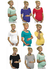 "Maternity Shirt Short Tunic Blouse Top Belly Stretch "" Sonia "" Pregnancy"