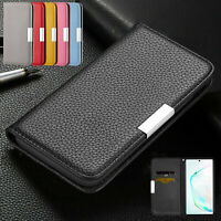 For Samsung S21 Ultra Note 20 S21+ S20 FE 5G A21 Flip Leather Wallet Case Cover