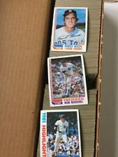 1982 Topps Baseball Card Commons. Pick 15 to Complete Your Set.