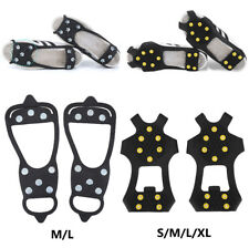 Snow Ice Shoe Cover Grippers Spikes Grips Climbing Anti-Slip Crampons 8/10 Teeth