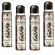 MALIZIA DONNA Animalier deospray für Damen 4x 100 ml