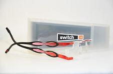 Switch it combi 2387 Wechselbrille Damen Brille randlos rot schwarz  Neu