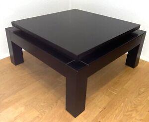 THONET Wohnzimmertisch Tisch Beistelltisch 58x58x28 cm Dunkelbraun