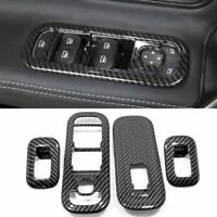 Carbon Black Window Lift Switch Cover Trim 4pcs For Benz A-Class W177 2019 2020