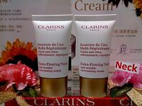 """Clarins Extra Firming*Neck*Anti Wrinkle Cream◆15mlx2=30ml◆NEW SEALED""""FREE POST"""""""