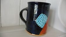 JOHN POLLEX BARBICAN PLYMOUTH CERAMIC ABSTRACT POTTERY LARGE MUG 1993