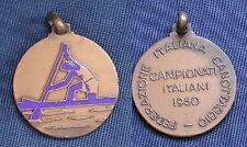 MEDAGLIA SMALTO FEDERAZIONE ITALIANA CANOTTAGGIO CAMPIONATI ITALIANI 1960 ROWING