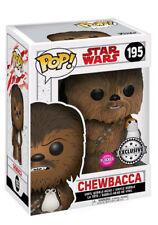 Funko Pop Vinyl 195 Chewbacca With Porg Flocked Exclusive Star Wars last jedi