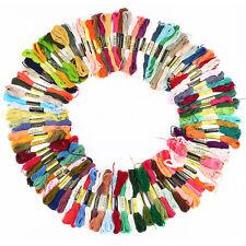 10 échevettes de fil pour bracelet brésilien broderie point de croix multicolore