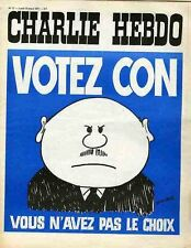 """""""CHARLIE HEBDO N°17 du 15/3/1971"""" WOLINSKI : VOTEZ CON vous n'avez pas le choix"""