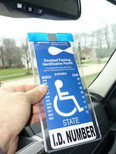 Handicapped Parking Permit Holder MTD50. Protects Tag & Magnetically ON & OFF