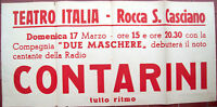 1940 ROCCA SAN CASCIANO LOCANDINA TEATRO E MUSICA