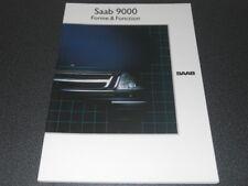 SAAB 9000 brochure Forme et Fonction modèle 1989 - référence 253690 - rare