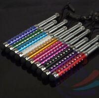 10x Crystal Retractable Stylus Touch Screen Pen For Iphone 5 4S i Pad 2/3/4 ipod