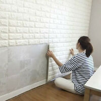 3D Self Adhesive DIY Panels PE Foam Wall Stickers Home Decor Embossed Brick